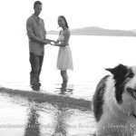 pet dog engagement session at spanish banks by vancouver wedding photographers www.lovetreephotography.ca