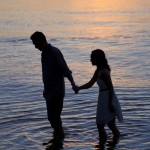 beachside sunset engagement session at spanish banks by vancouver wedding photographers www.lovetreephotography.ca