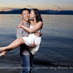 romantic sunset engagement session at spanish banks by vancouver wedding photographers www.lovetreephotography.ca