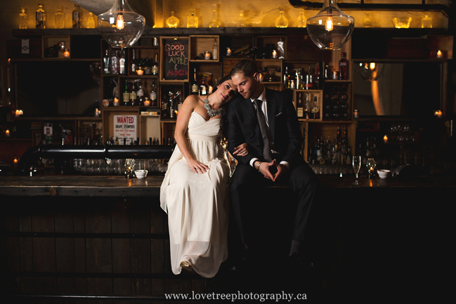 hip and cool wedding in a bar