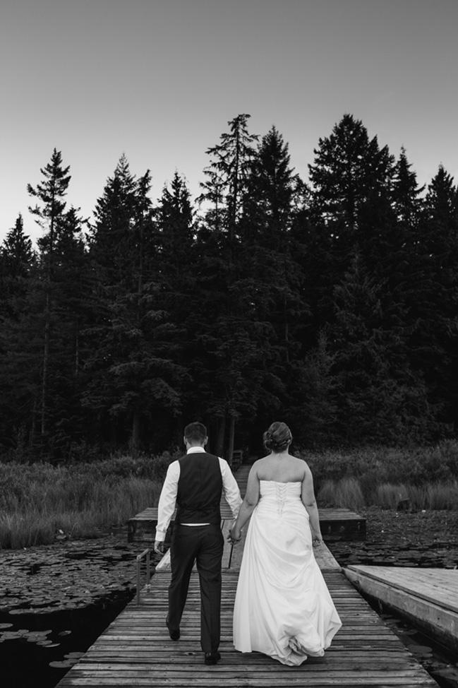 Rustic Whonnock Lake Wedding
