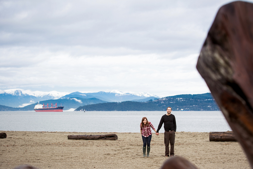 vancouver winter beach engagement session 20