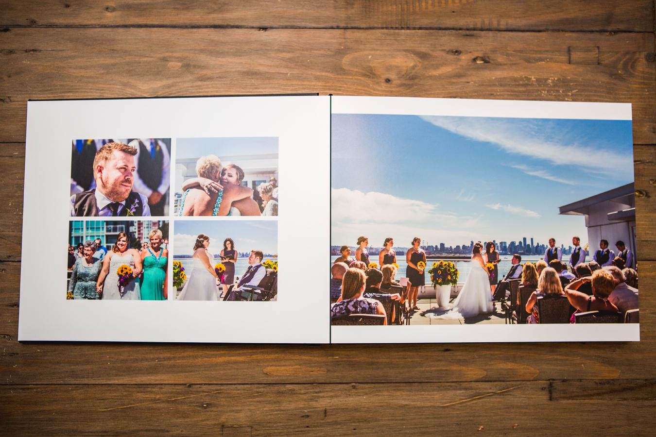 a customizable wedding album