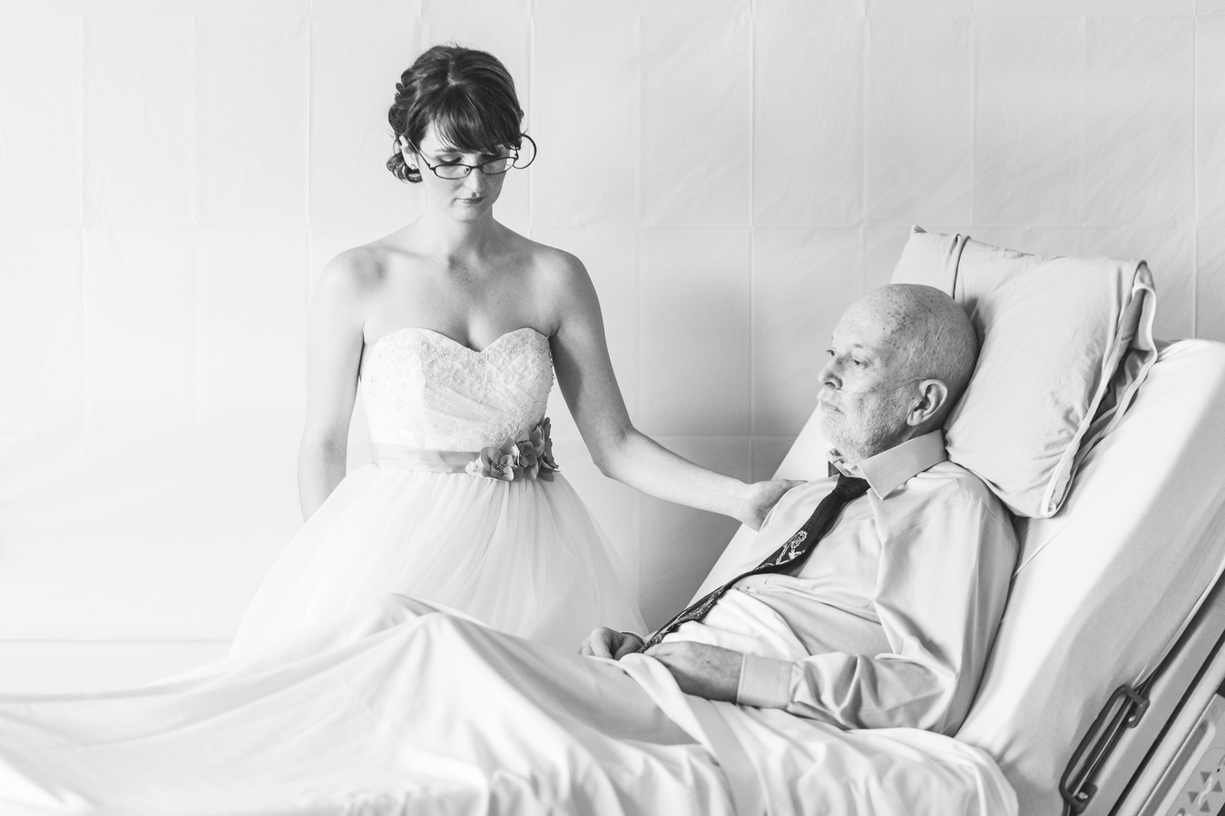terminally ill parent at wedding