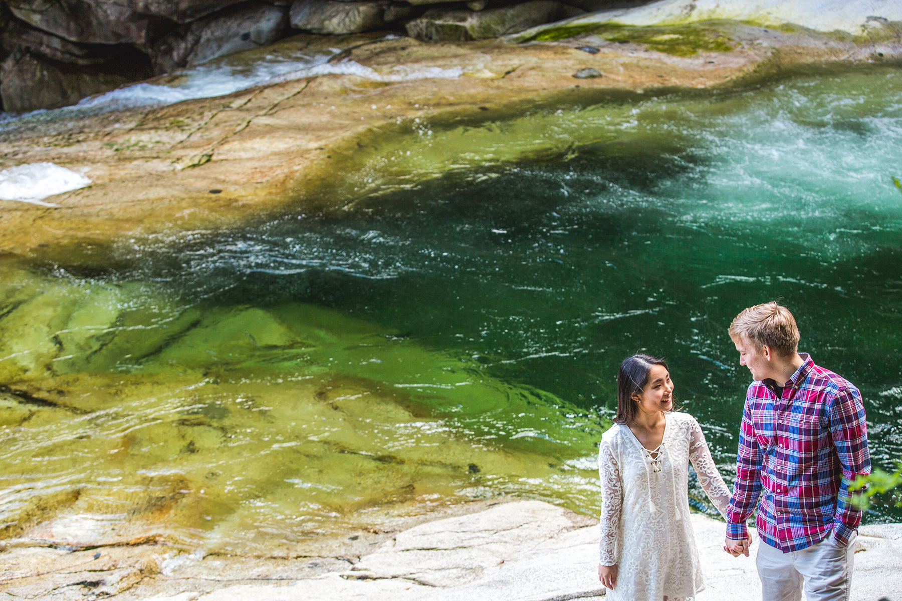 sweet engagement session at gold creek falls in maple ridge