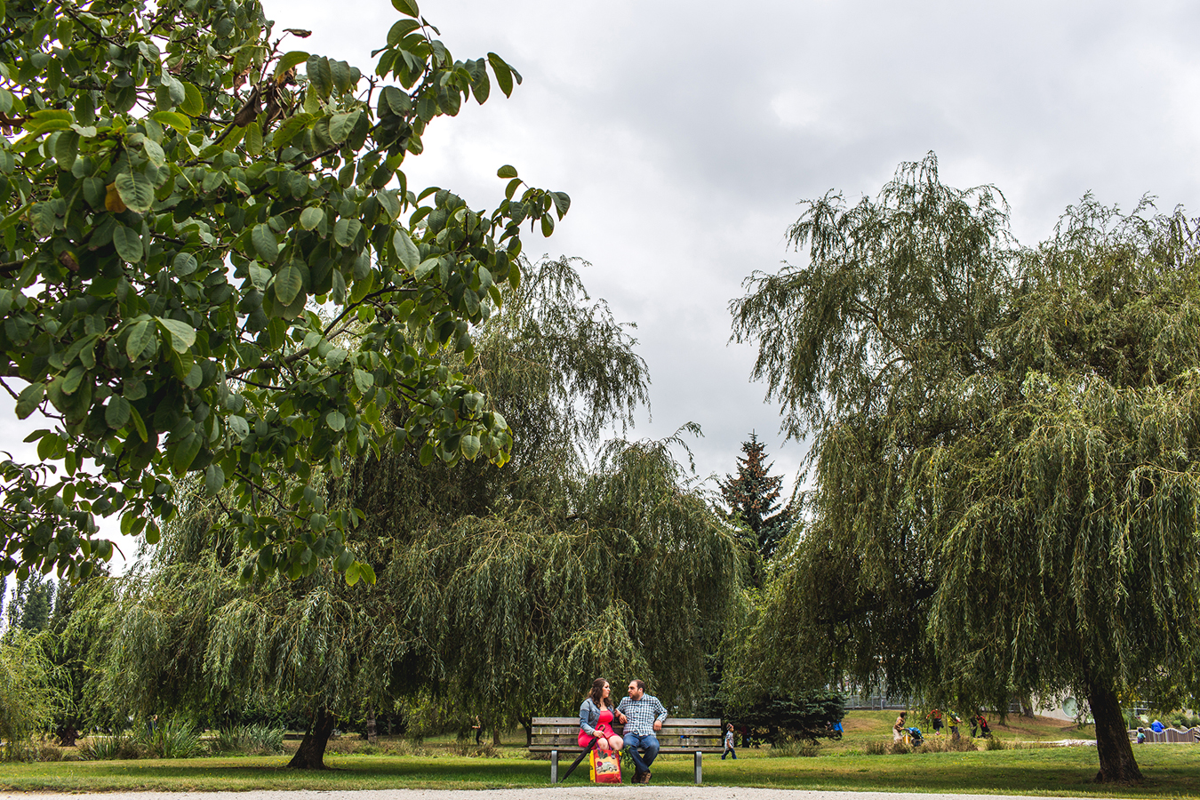 trout lake engagement session