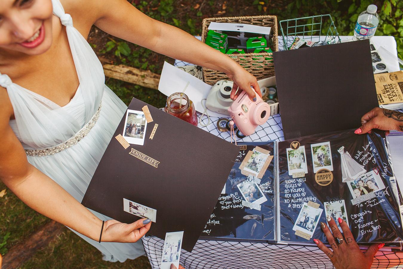 wedding snapshot guestbook