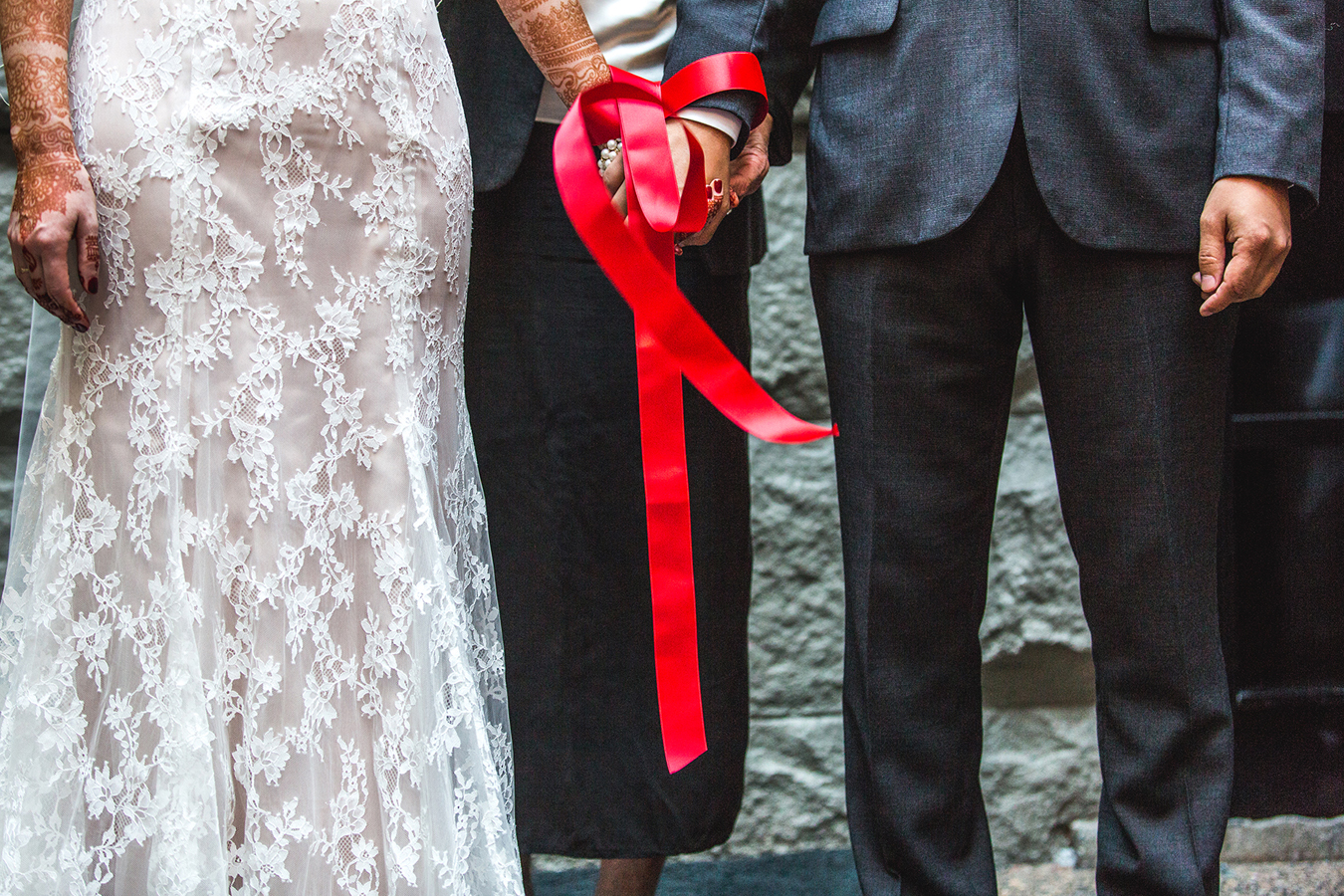 interracial hand fasting ceremony at a wedding in Vancouver BC