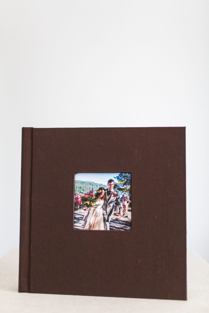 custom wedding album made by Kendra Coupland at Love Tree Photography