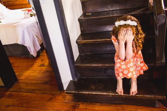 Shy Kids at wedding