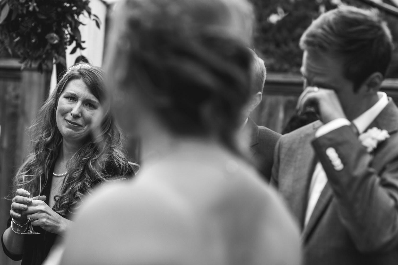 guests get emotional at a wedding in Ladner Delta