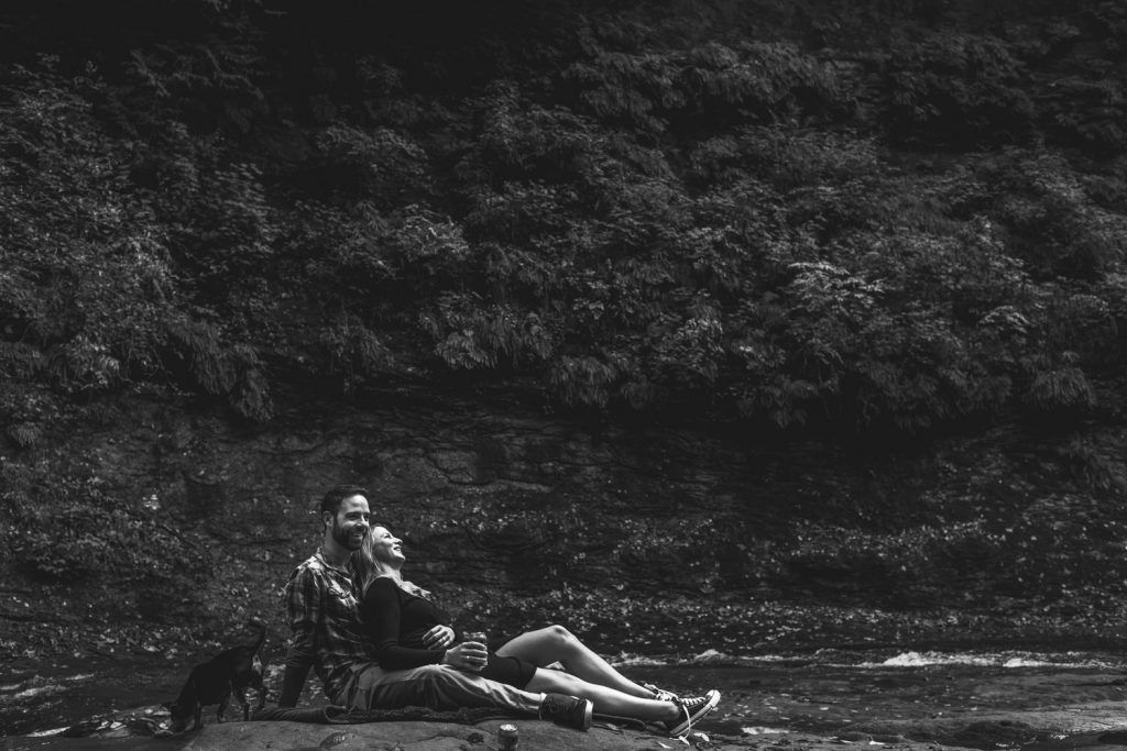 engagement session in the pacific northwest