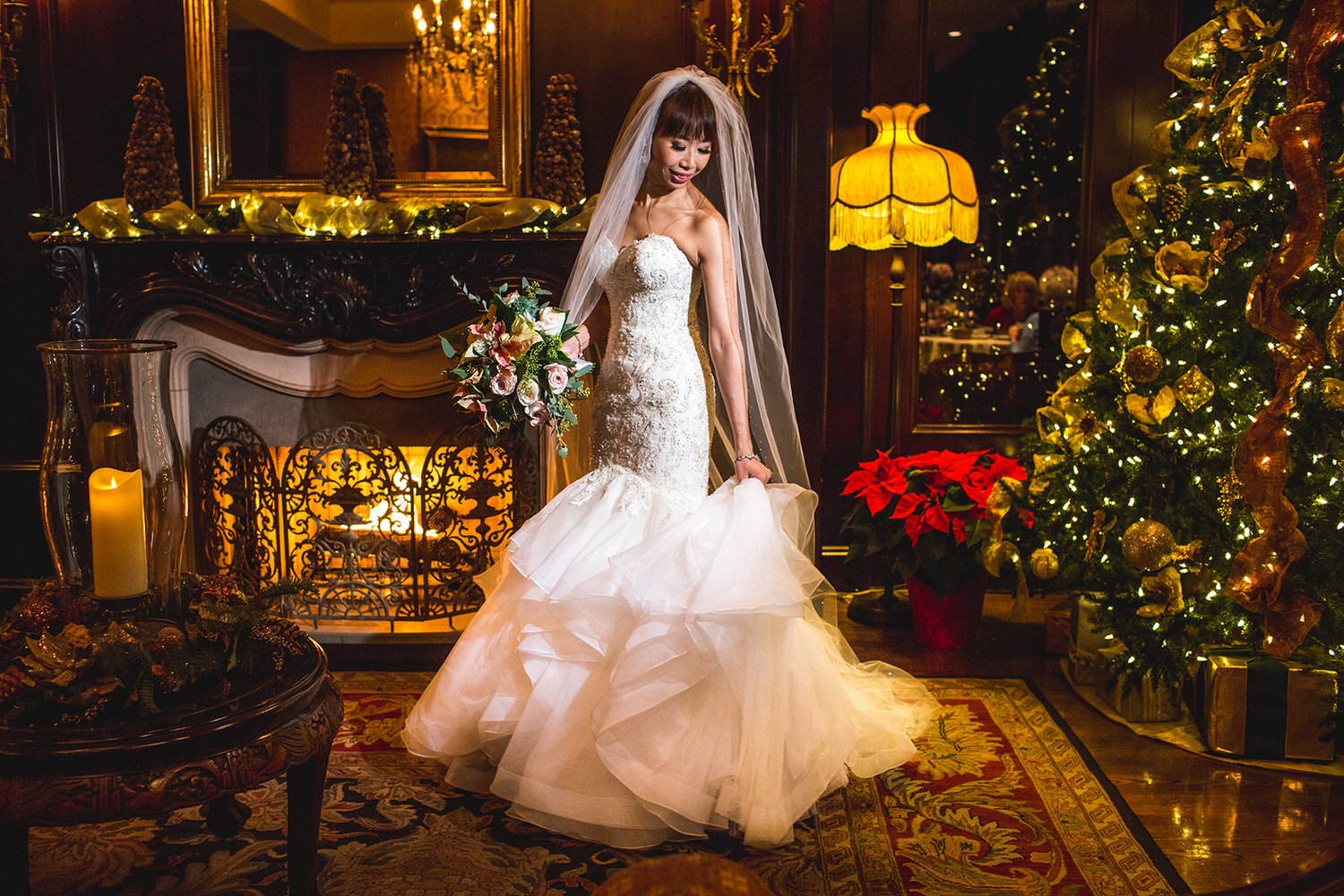winter wedding at the luxurious Wedgewood Hotel