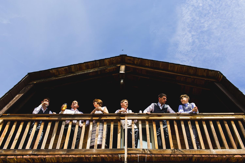 Family in the cabin at Bodega Ridge