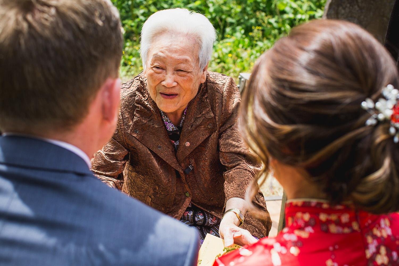 Interracial Tea Ceremony at a wedding