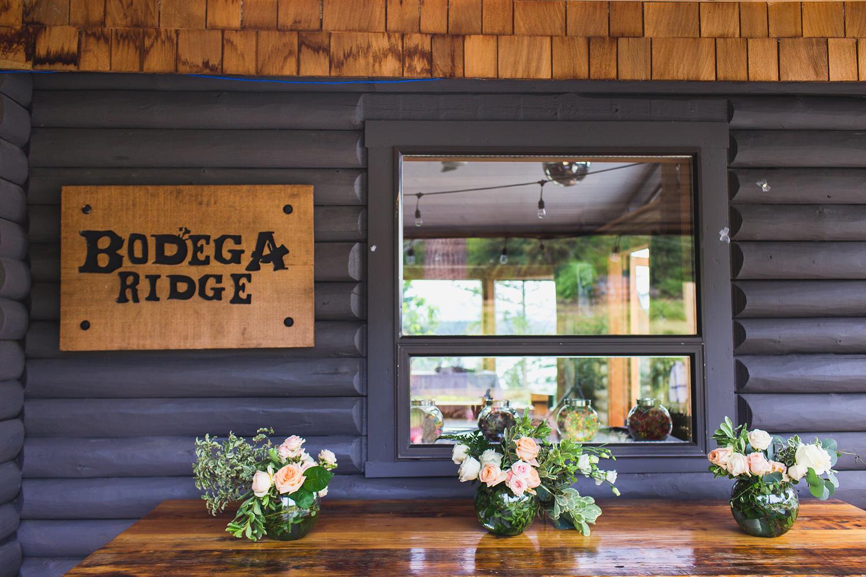 Tables at a wedding at Bodega Ridge on Galiano Island, BC