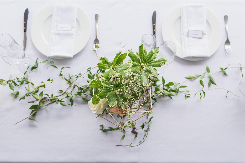 Decorations at Bodega Ridge Wedding Reception Site