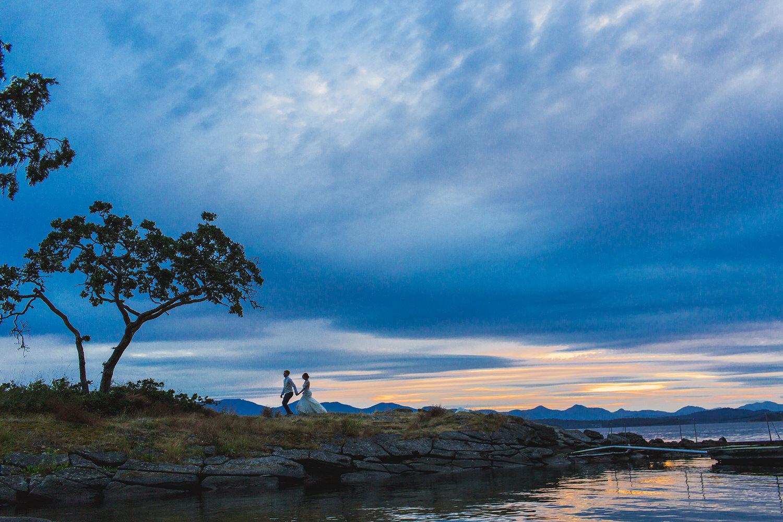 Sunset wedding at Bodega Ridge