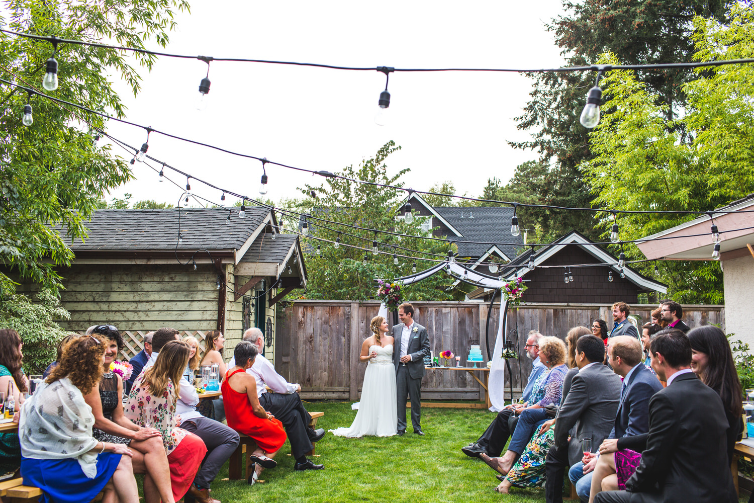 Backyard wedding in Tsawwassen
